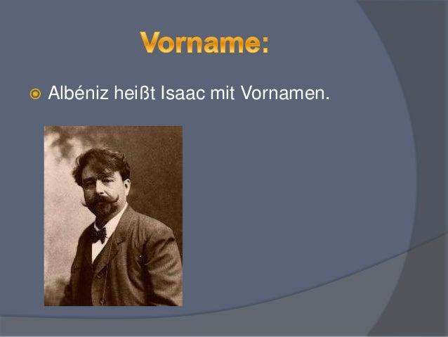 Isaac Albéniz  Slide 3