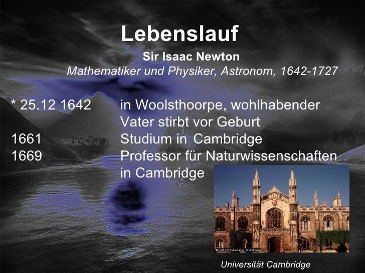 lebenslauf sir isaac newton - Isaac Newton Lebenslauf