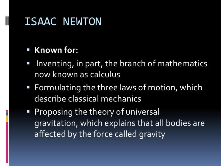a description of formulating the three laws of motion