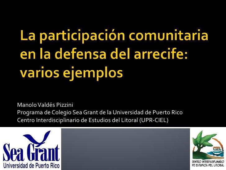 Manolo Valdés Pizzini Programa de Colegio Sea Grant de la Universidad de Puerto Rico Centro Interdisciplinario de Estudios...