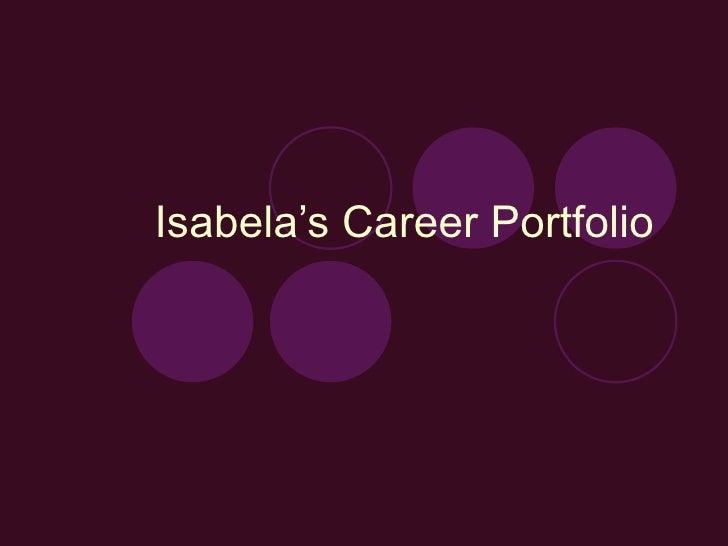 Isabela's Career Portfolio