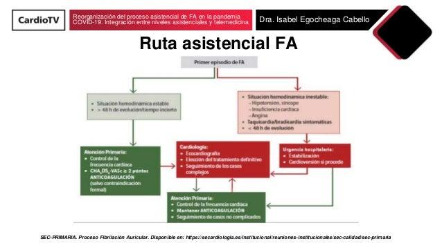 Reorganización del proceso asistencial de fibrilación auricular en la pandemia COVID-19. Integración entre niveles asistenciales y telemedicina Slide 3