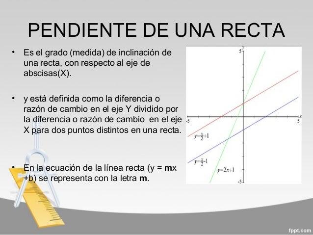 a23253657be4 PENDIENTE DE UNA RECTA • Es ...