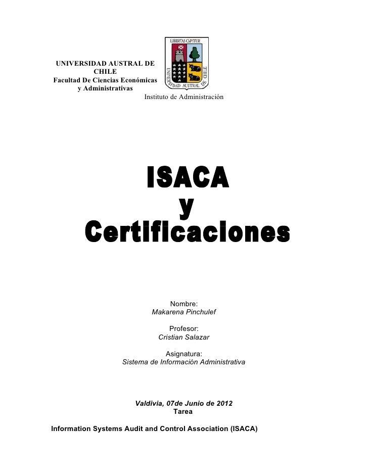 UNIVERSIDAD AUSTRAL DE            CHILEFacultad De Ciencias Económicas       y Administrativas                           I...