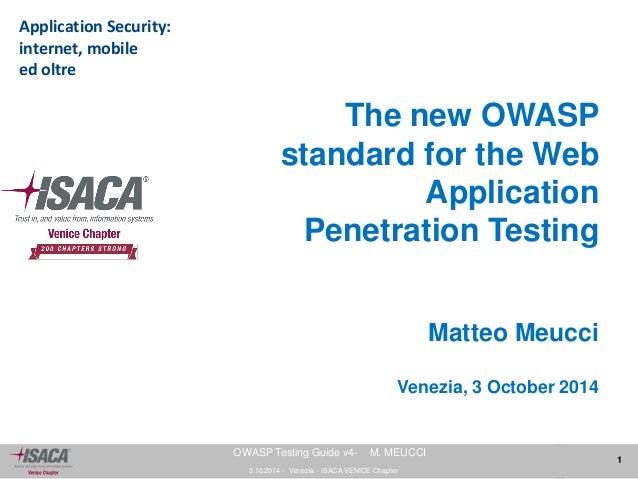 Matteo Meucci OWASP Testing Guide v4
