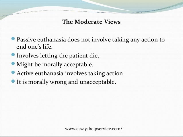 is euthanasia ethical essay