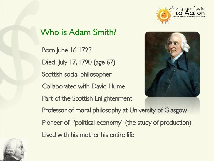 a biography of adam smith a british philosopher and economist