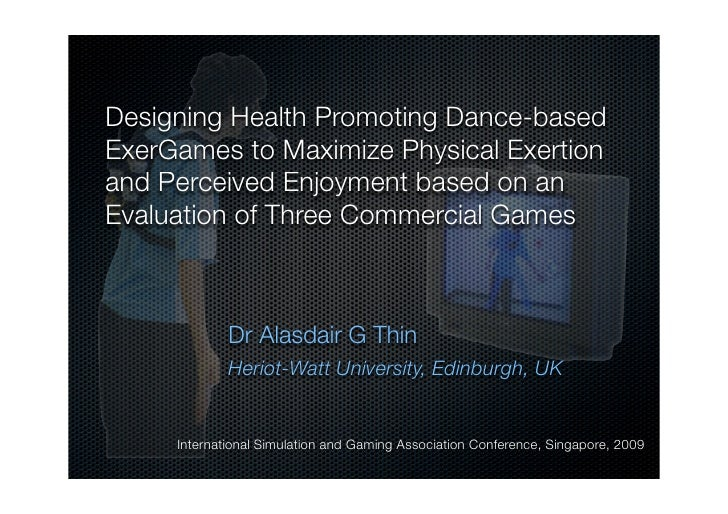 Designing Health Promoting Dance-based ExerGames to Maximize Physical Exertion and Perceived Enjoyment based on an Evaluat...