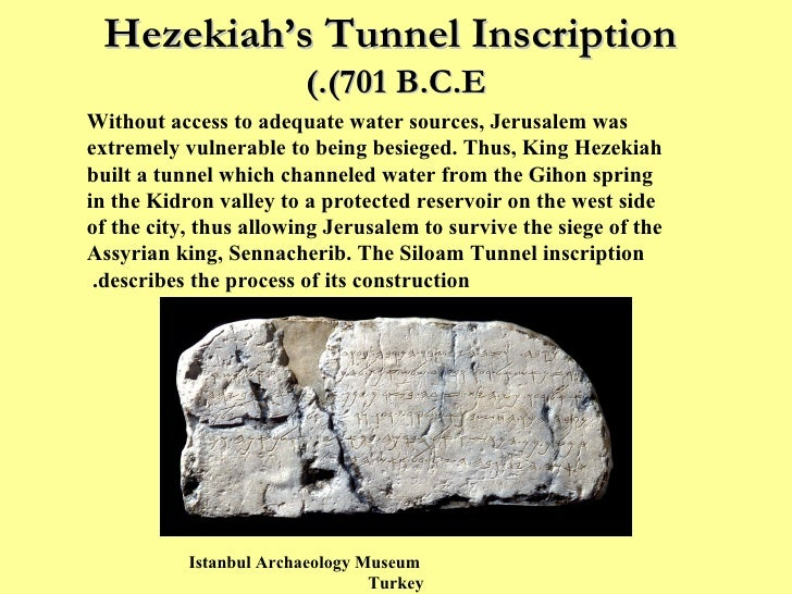 Image result for  Hezekiah's Siloam Tunnel Inscription.