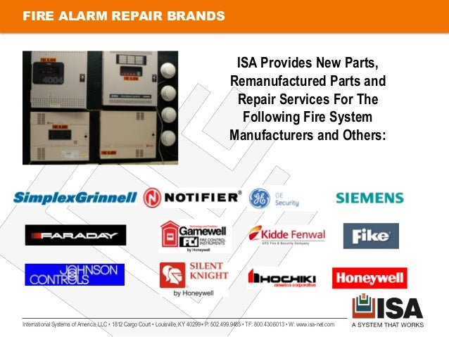 FIRE ALARM REPAIR BRANDS                                                                                           ISA Pro...