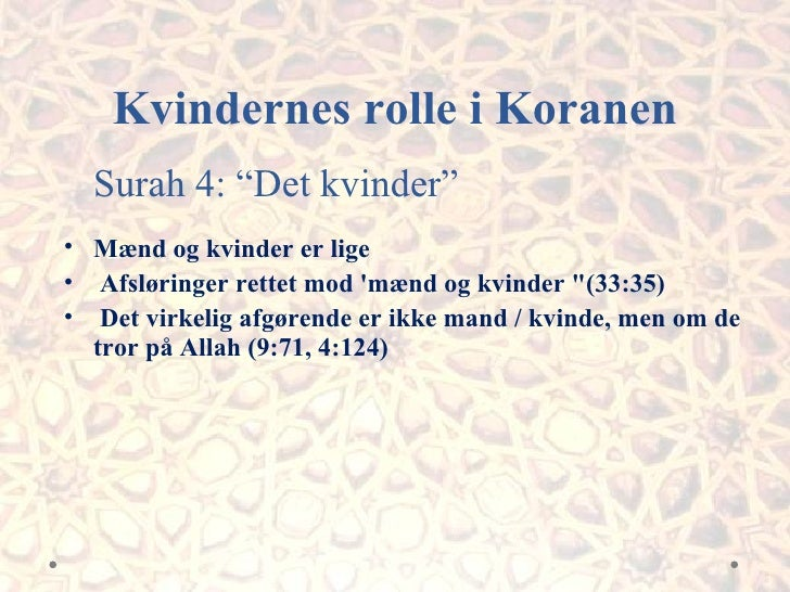 koranen om kvinder