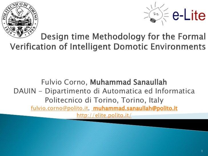 Fulvio Corno, Muhammad SanaullahDAUIN - Dipartimento di Automatica ed Informatica        Politecnico di Torino, Torino, It...