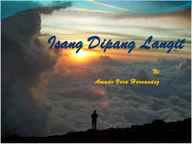 "Literary Analysis of Amado V. Hernandez's ""Isang Dipang Langit"" (an Arm's Length Piece of the Sky)"