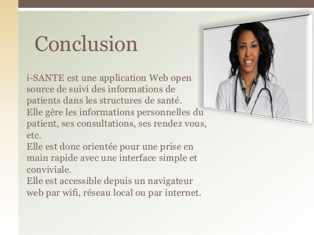 i-SANTE est une application Web opensource de suivi des informations depatients dans les structures de santé.Elle gère les...