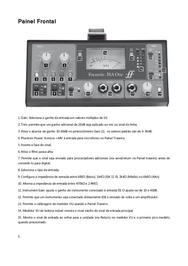 focusrite isa one manual pdf