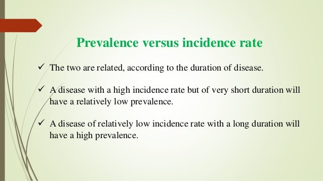 Diagram to illustrate Prevalence and Incidence
