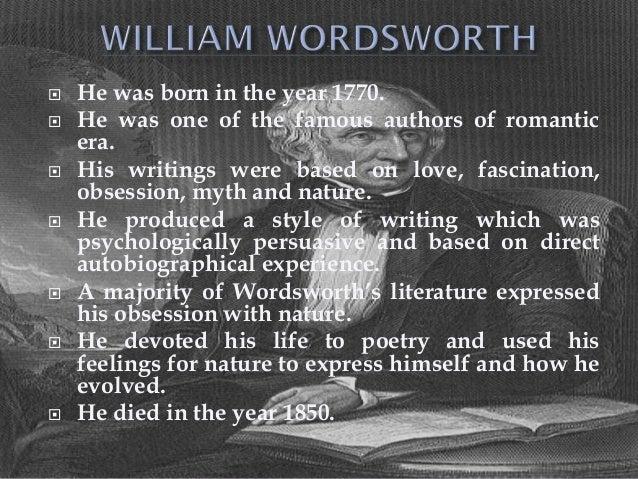 Biography of william wordsworth essay