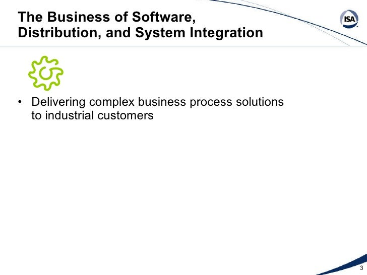 The Business of Software, Distribution, and System Integration Slide 3