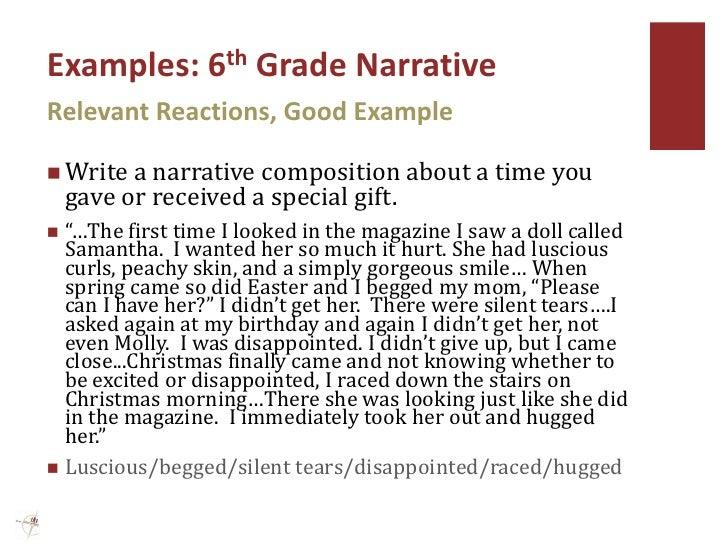 narrative essay examples for a 5th grader image 3 - Example Of Narrative Essays