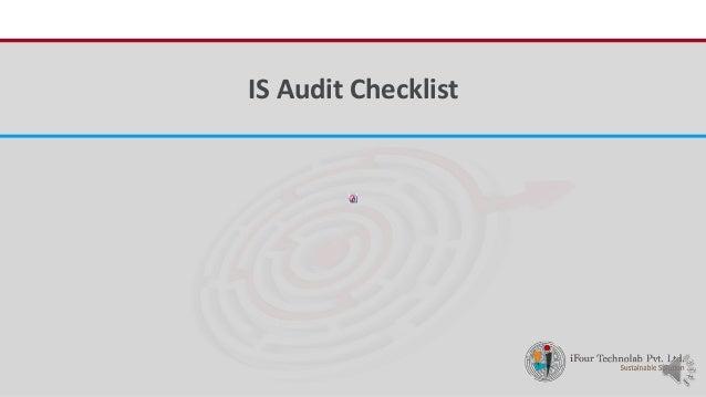 iFour ConsultancyIS Audit Checklist