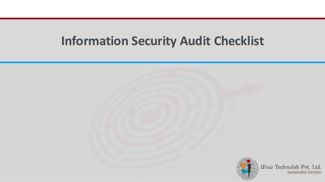iFour ConsultancyInformation Security Audit Checklist