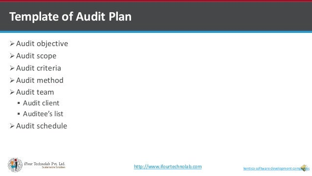 iso 27001 2013 is audit plan by software outsourcing company in i