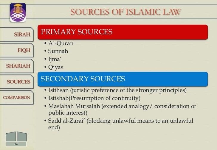 sources of islamic law Sources of islamic law primary and secondary sources of islamic law primary sources of islamic law includes quran, sunnah, ijma and qiyas.