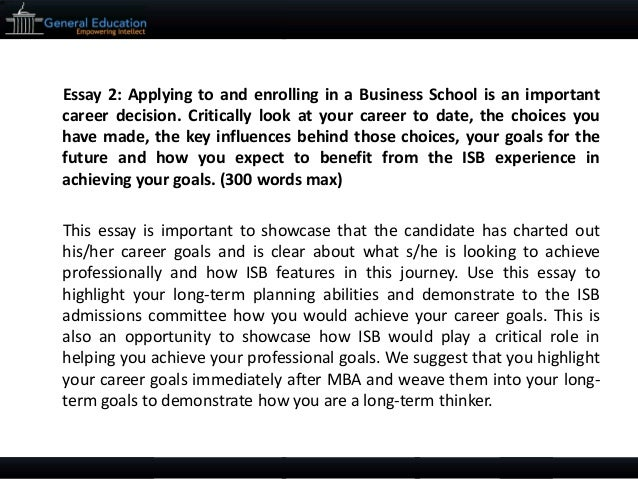 isb essays help Isb application assistance, isb admission counselling and gmat coaching/ training for  isb application strategy isb resume editing isb essay editing  isb.