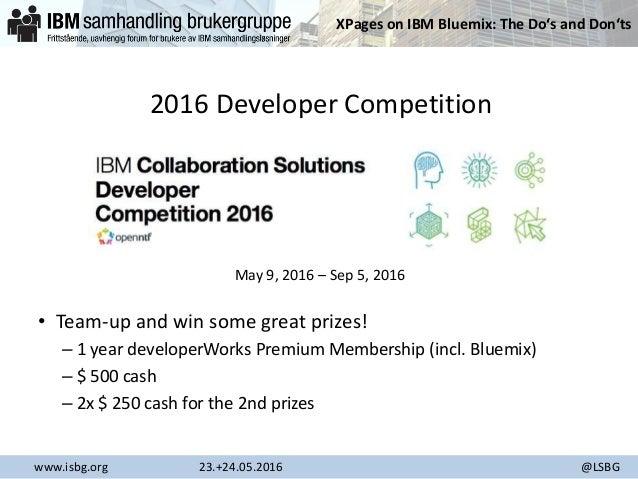 ISBG 2016 - XPages on IBM Bluemix Slide 3