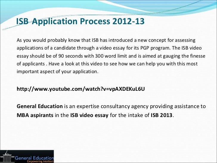 general education isb application strategy 4