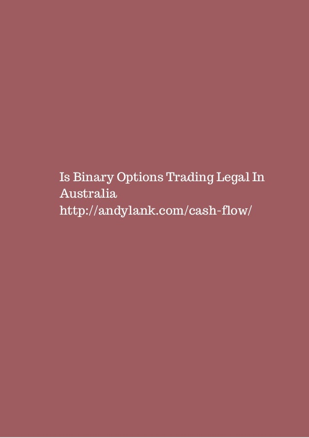 Is binary options legal