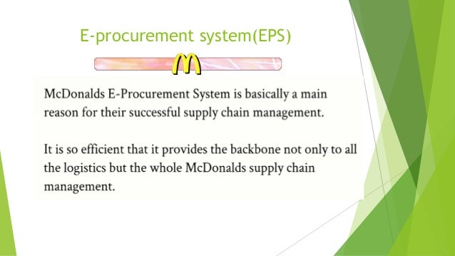 Mcdonald's information systems.