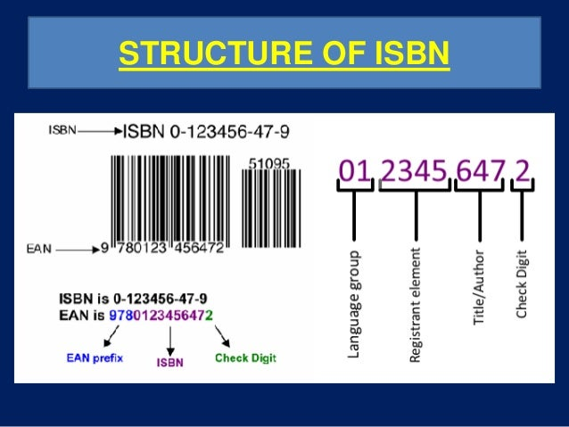 Isbn International Standard Book Number