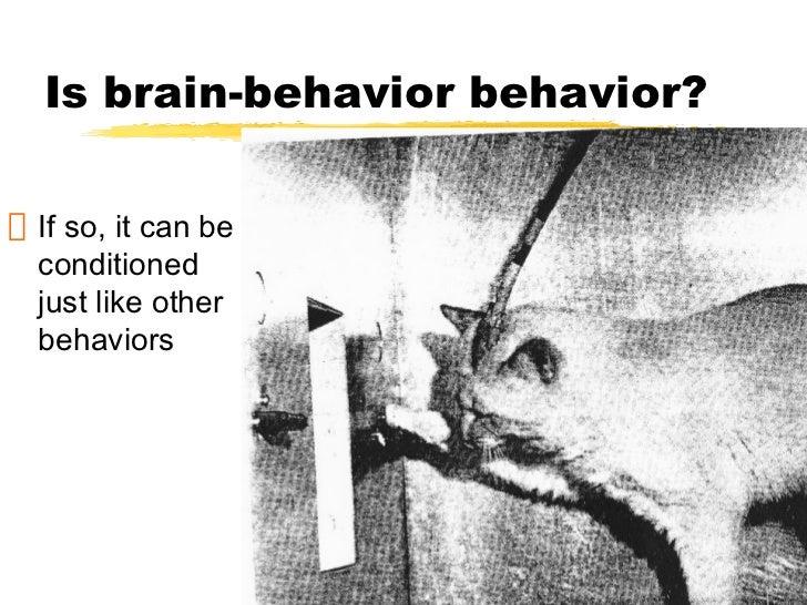 Is brain-behavior behavior?If so, it can beconditionedjust like otherbehaviors