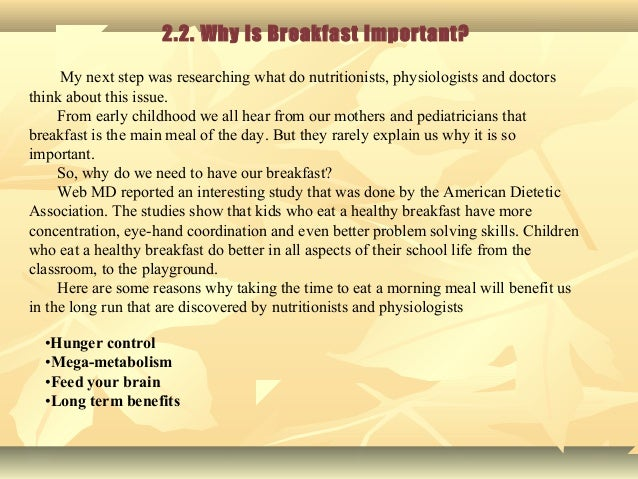 breakfast is the most important meal of the day essay Breakfast is not the most important meal of the day - everything you know is wrong - duration: 9:51 pod awful tv 2,716 views.