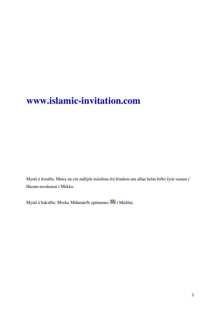 www.islamic-invitation.comMynd á forsíðu: Meira en ein milljón múslíma frá löndum um allan heim biðst fyrir saman íHaram-m...