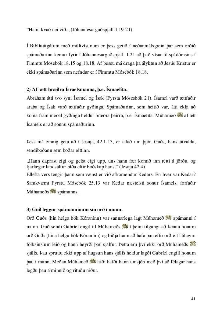 """""""Hann kvað nei við."""" (Jóhannesarguðspjall 1.19-21).Í Biblíuútgáfum með millivísunum er þess getið í neðanmálsgrein þar sem..."""
