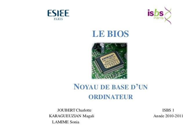 69 Matériel BIOS SE Logiciels d'application BIOS = Basic Input Output System