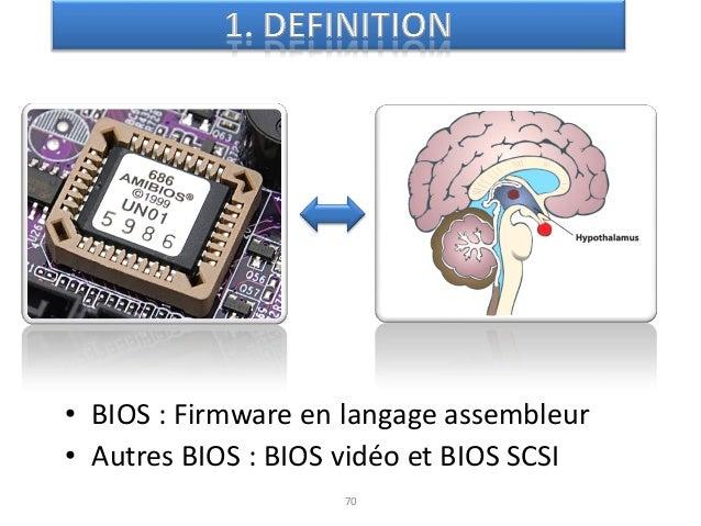 """72 72 Premiers ordinateurs  Premiers micrologiciels """"BIOS"""" Dans les années 40 Premiers BIOS avec les premiers IBM PCEn 19..."""