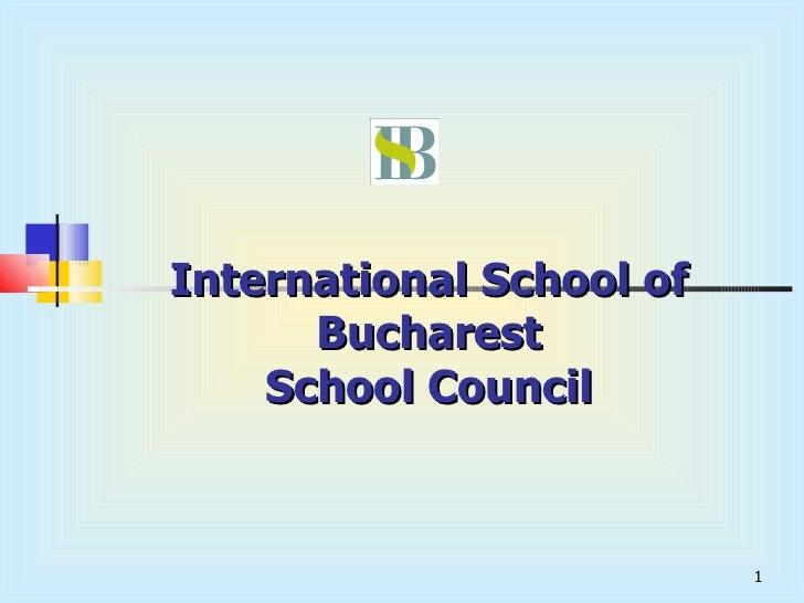 International School of Bucharest School Council