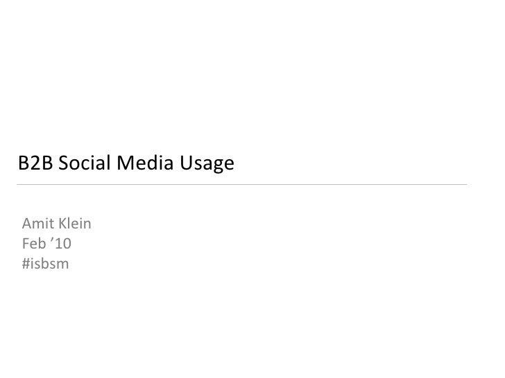 ISBSM #2 - Social Media for B2B