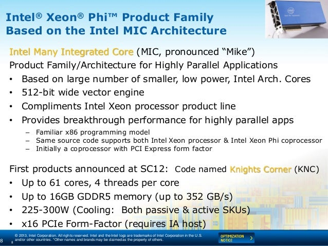 © 2013, Intel Corporation. All rights reserved. Intel and the Intel logo are trademarks of Intel Corporation in the U.S. a...