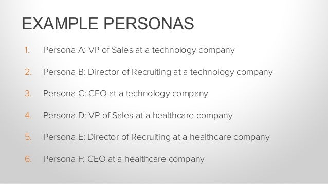 Start with one segmentation at the company level (like industry) and one at the individual level (like role).