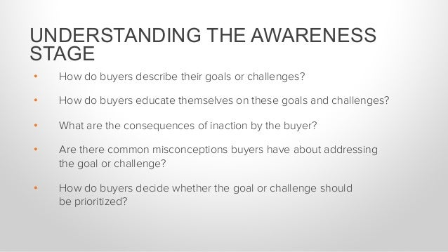 • How do buyers describe their goals or challenges? • How do buyers educate themselves on these goals and challenges? •...