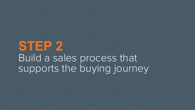 STEP 2 Build a sales process that supports the buying journey