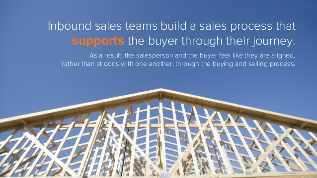 Inbound sales teams build a sales process that supports the buyer through their journey. As a result, the salesperson and ...