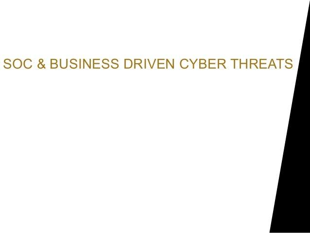 SOC & BUSINESS DRIVEN CYBER THREATSMahmoud YassinLead Security Eng. SOC& NOCNational Bank of Abu Dhabi