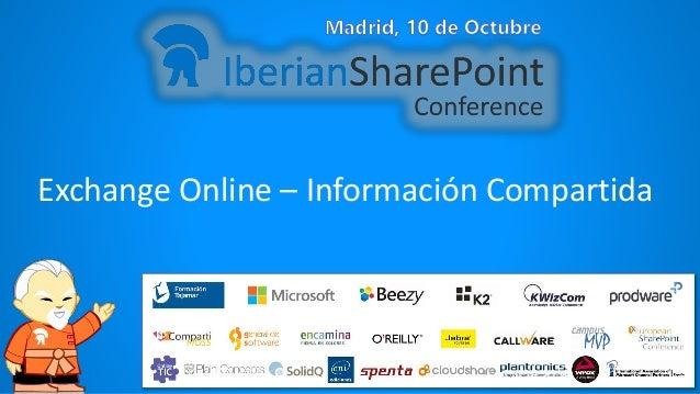Exchange Online – Información Compartida