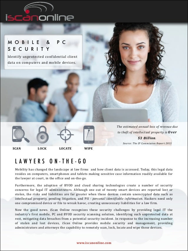 M O B I L E & P C S E C U R I T Y Identify  unprotected  confidential  client   data  on  computers  and  ...