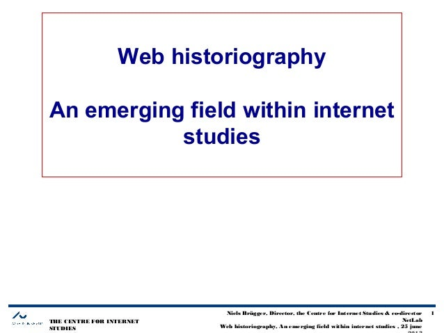 THE CENTRE FOR INTERNET STUDIES Niels Brügger, Director, the Centre for Internet Studies & co-director NetLab Web historio...